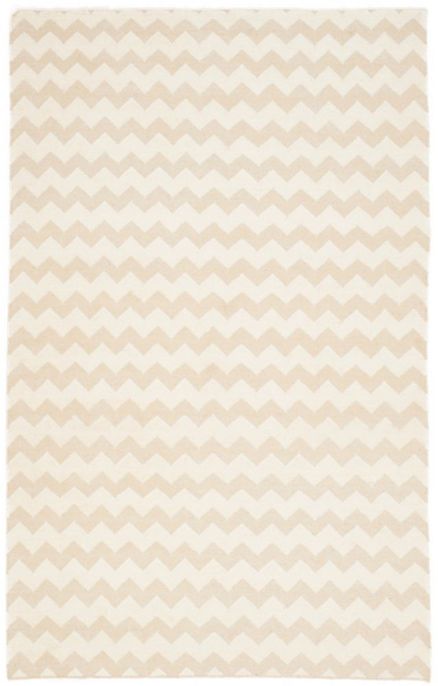 Dhurries Horace Beige / Ivory 5 ft. x 8 ft. Indoor Area Rug