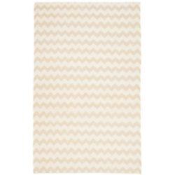 Safavieh Tapis d'intérieur, 5 pi x 8 pi, Dhurries Horace, beige / ivoire