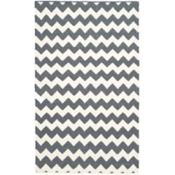 Safavieh Dhurries Horace Ivory / Charcoal 3 ft. x 5 ft. Indoor Area Rug