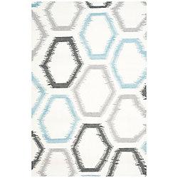 Safavieh Dhurries Winnie Ivory / Multi 6 ft. x 9 ft. Indoor Area Rug