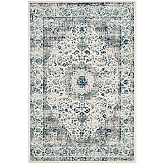 Evoke Jaime Grey / Ivory 4 ft. x 6 ft. Indoor Area Rug