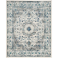 Evoke Jaime Grey / Ivory 8 ft. x 10 ft. Indoor Area Rug