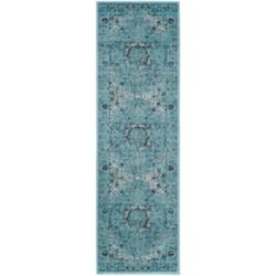 Safavieh Evoke Jaime Light Blue 2 ft. 2 inch x 15 ft. Indoor Runner