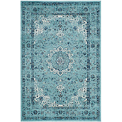 Safavieh Evoke Jaime Light Blue 5 ft. 1 inch x 7 ft. 6 inch Indoor Area Rug