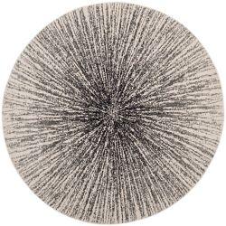 Safavieh Evoke Martin Black / Ivory 6 ft. 7 inch x 6 ft. 7 inch Indoor Round Area Rug