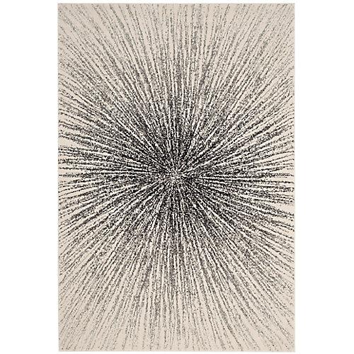 Tapis d'intérieur, 8 pi x 10 pi, Evoke Martin, noir / ivoire
