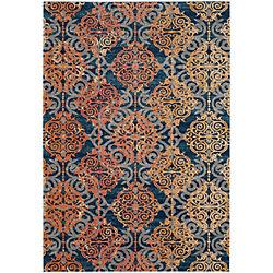 Safavieh Evoke Jack Blue / Orange 5 ft. 1 inch x 7 ft. 6 inch Indoor Area Rug