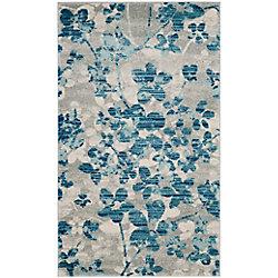 Safavieh Evoke Victor Grey / Light Blue 3 ft. x 5 ft. Indoor Area Rug