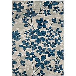 Safavieh Evoke Victor Grey / Light Blue 5 ft. 1 inch x 7 ft. 6 inch Indoor Area Rug