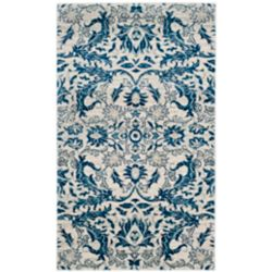 Safavieh Evoke Tobias Ivory / Blue 6 ft. 7 inch x 9 ft. Indoor Area Rug
