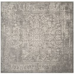 Safavieh Evoke Eric Silver / Ivory 5 ft. 1 inch x 5 ft. 1 inch Indoor Square Area Rug