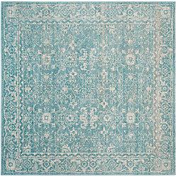 Safavieh Evoke Emma Light Blue / Ivory 6 ft. 7 inch x 6 ft. 7 inch Indoor Square Area Rug