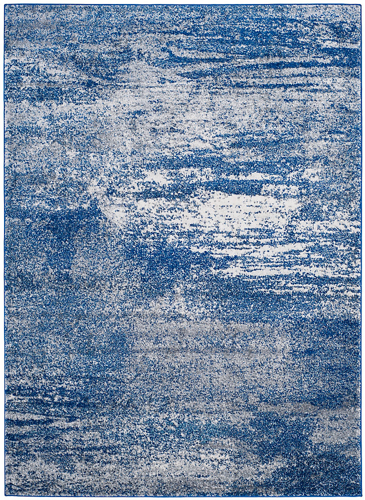 Evoke Vita Navy / Ivory 6 ft. 7 inch x 9 ft. Indoor Area Rug