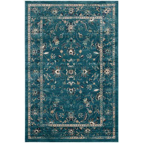 Safavieh Evoke Brock Turquoise / Beige 5 ft. 1 inch x 7 ft. 6 inch Indoor Area Rug