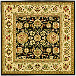 Safavieh Lyndhurst Byron Black / Ivory 6 ft. x 6 ft. Indoor Square Area Rug
