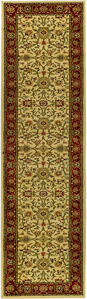 Lyndhurst Byron Ivory / Red 2 ft. 3 inch x 14 ft. Indoor Runner