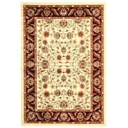 Safavieh Tapis d'intérieur, 6 pi x 9 pi, Lyndhurst Dani, ivoire / rouge