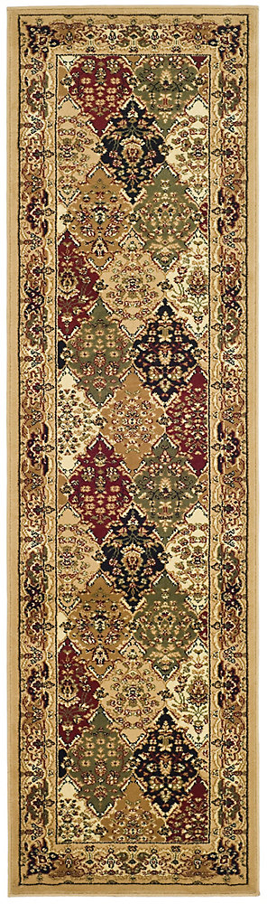 Lyndhurst Emir Multi / Beige 2 ft. 3 inch x 20 ft. Indoor Runner