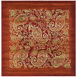 Safavieh Lyndhurst Devon Red / Multi 6 ft. x 6 ft. Indoor Square Area Rug
