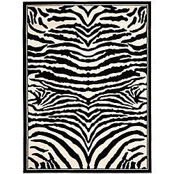 Safavieh Lyndhurst Bruce White / Black 4 ft. x 6 ft. Indoor Area Rug