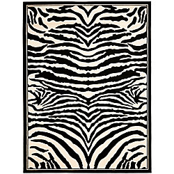Safavieh Lyndhurst Bruce White / Black 5 ft. 3 inch x 7 ft. 6 inch Indoor Area Rug