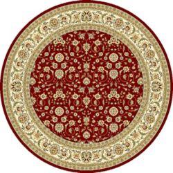 Safavieh Lyndhurst Adria Red / Ivory 8 ft. x 8 ft. Indoor Round Area Rug