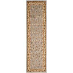 Safavieh Tapis de passage d'intérieur, 2 pi 3 po x 21 pi, Lyndhurst Adria, bleu clair / ivoire