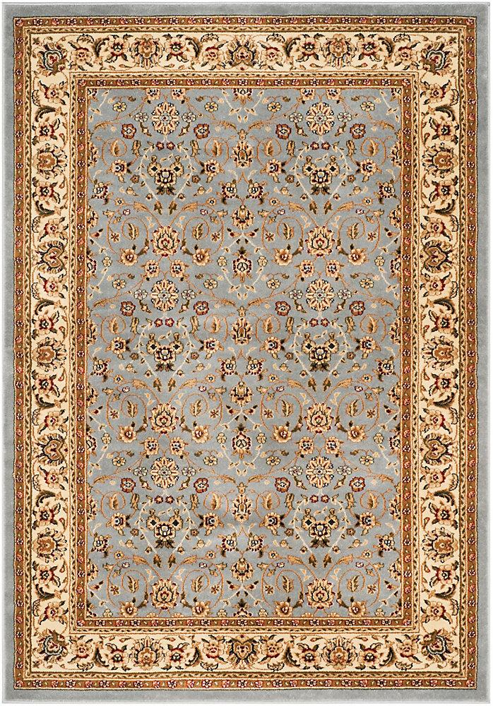 Tapis d'intérieur, 4 pi x 6 pi, Lyndhurst Adria, bleu clair / ivoire