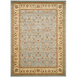 Safavieh Tapis d'intérieur, 8 pi x 11 pi, Lyndhurst Adria, bleu clair / ivoire