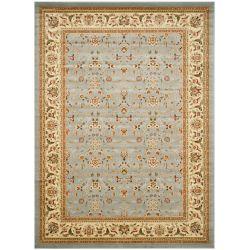 Safavieh Tapis d'intérieur, 9 pi x 12 pi, Lyndhurst Adria, bleu clair / ivoire