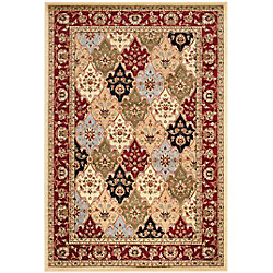 Safavieh Lyndhurst Ethel Multi / Red 5 ft. 3 inch x 7 ft. 6 inch Indoor Area Rug