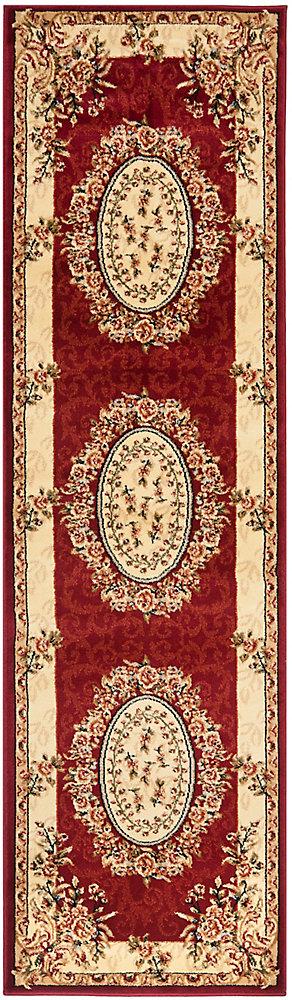 Lyndhurst Fez Red / Ivory 2 ft. 3 inch x 8 ft. Indoor Runner