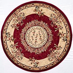 Safavieh Lyndhurst Fez Red / Ivory 5 ft. 3 inch x 5 ft. 3 inch Indoor Round Area Rug