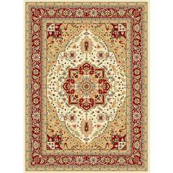 Safavieh Tapis d'intérieur, 4 pi x 6 pi, Lyndhurst Thane, ivoire / rouge