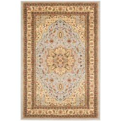Safavieh Tapis d'intérieur, 6 pi x 9 pi, Lyndhurst Thane, gris / beige