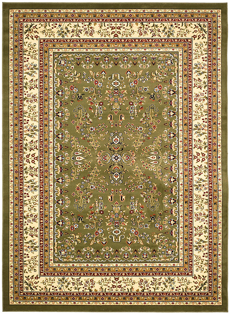 Lyndhurst Greta Sage / Ivory 5 ft. 3 inch x 7 ft. 6 inch Indoor Area Rug