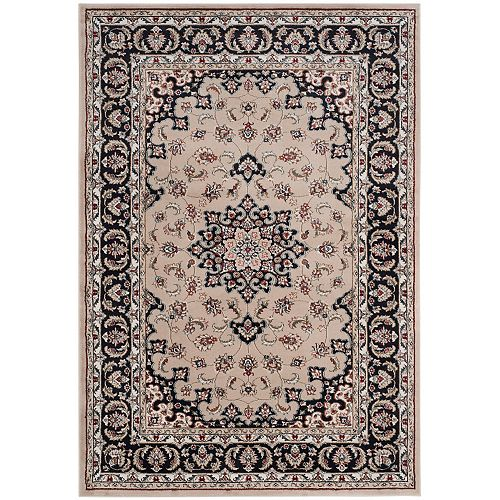 Safavieh Lyndhurst Erik Cream / Anthracite 6 ft. x 9 ft. Indoor Area Rug