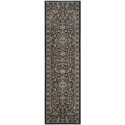 Safavieh Lyndhurst Holly Anthracite / Teal 2 ft. 3 inch x 8 ft. Indoor Runner