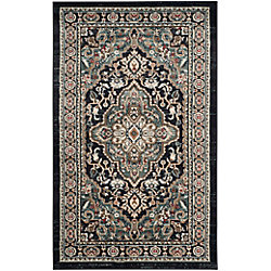 Safavieh Lyndhurst Holly Anthracite / Teal 3 ft. 3 inch x 5 ft. 3 inch Indoor Area Rug