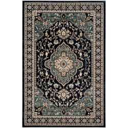 Safavieh Lyndhurst Holly Anthracite / Teal 8 ft. x 10 ft. Indoor Area Rug