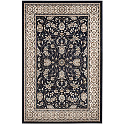 Safavieh Lyndhurst Alec Anthracite / Cream 9 ft. x 12 ft. Indoor Area Rug