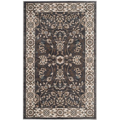 Safavieh Lyndhurst Alec Grey / Cream 3 ft. 3 inch x 5 ft. 3 inch Indoor Area Rug