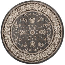 Safavieh Lyndhurst Alec Grey / Cream 7 ft. x 7 ft. Indoor Round Area Rug