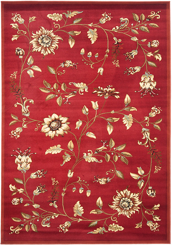 Lyndhurst Hugo Red / Multi 5 ft. 3 inch x 7 ft. 6 inch Indoor Area Rug