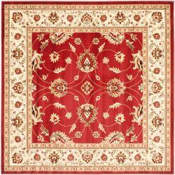 Safavieh Lyndhurst Emmett Red / Ivory 6 ft. 7 inch x 6 ft. 7 inch Indoor Square Area Rug