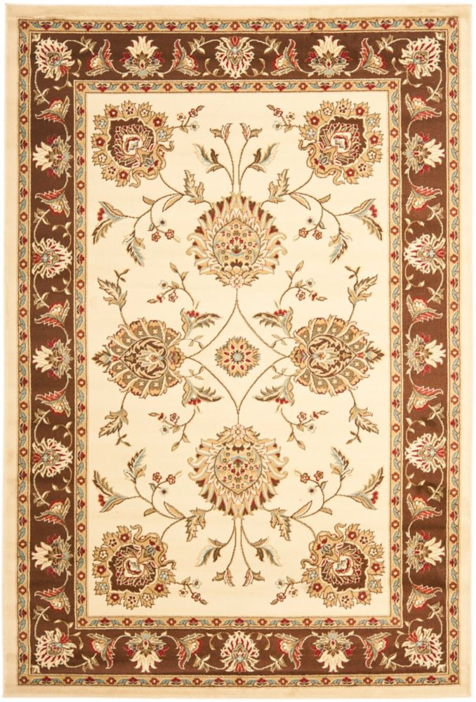 Safavieh Lyndhurst Hoyt Ivory / Brown 5 ft. 3 inch x 7 ft. 6 inch Indoor Area Rug