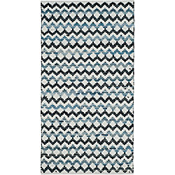 Safavieh Montauk Jeremy Ivory Blue / Black 3 ft. x 5 ft. Indoor Area Rug