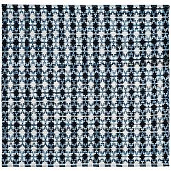 Safavieh Montauk Cris Ivory Blue / Black 6 ft. x 6 ft. Indoor Square Area Rug