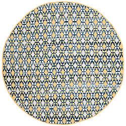 Safavieh Montauk Cris Gold / Multi 6 ft. x 6 ft. Indoor Round Area Rug