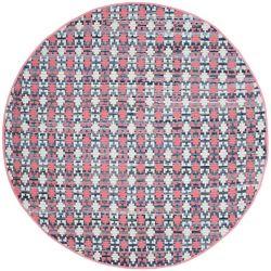 Safavieh Montauk Cris Coral / Multi 4 ft. x 4 ft. Indoor Round Area Rug